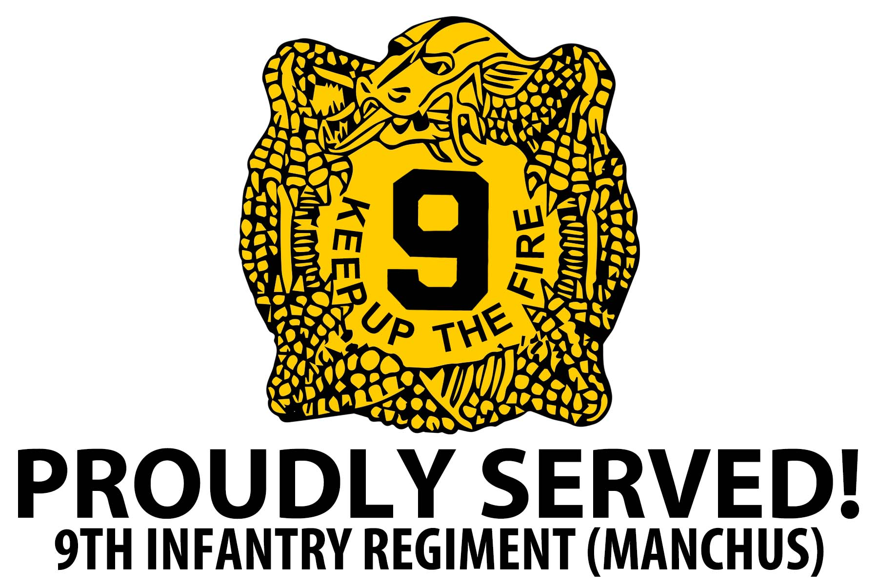 Proudly Served 9th Infantry Regiment 4 X 6 Decal